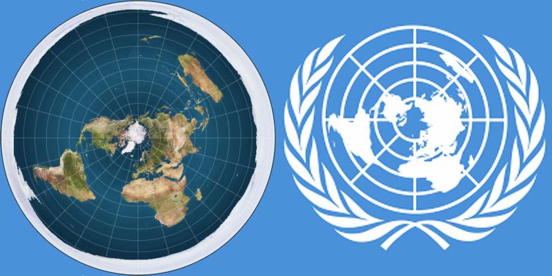 UN Flag = Flat Earth Model? – Round Earth Association